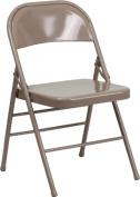 Flash Furniture HF3-MC-309AS-BGE-GG Hercules Series Triple Braced and Quad Hinged Beige Metal Folding Chair