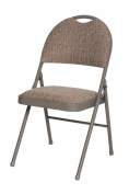 Meco 4-Pack Double Padded High Back Chair, Chicory Lace Frame and Motif Fabric Seat and Back