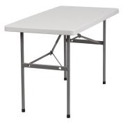 Flash Furniture RB-2448-GG 60cm Width by 120cm Length Granite Plastic Folding Table, Grey/White