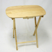 Oversized Folding TV Tray TV Table - Solid Hard Wood in Natural