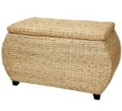 Oriental Furniture 80cm Rush Grass Storage Chest