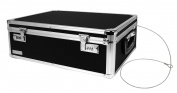 Vaultz Locking Storage Box, 6.5 x 48cm x 34cm , Black