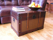 Boston Wood Chest Wooden Steamer Trunk - Large Trunk