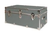 SecureOnCampus College Dorm Trunk / Footlocker Large - Silver