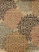 New City Brand New Contemporary Brown and Beige Modern Floral Flowers Area Rug 2.7m x 3.7m5