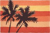 jellybean Sunset Palms Accent Area Rug