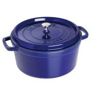 Staub Dark Blue Enamelled Cast Iron Round Cocotte, 3.8l