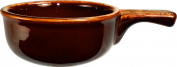 ITI-OSC-15-H Onion Soup Crock with Handle, 350ml, 24-Piece, Caramel and Beige