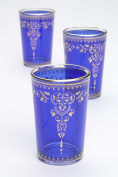 Moroccan Tea Glasses, Morjana Blue