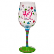 40 is the new 30 Stemware Glass