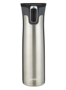 Contigo Autoseal West Loop Stainless Steel Travel Mug with Open-Access Lid, 710ml, Stainless Steel