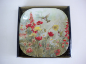 Hummingbird Melamine Snack Plates Set of Six