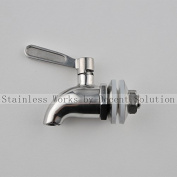 Stainless Works™ Stainless Steel Beverage Dispenser Replacement Spigot(Polished Finish) 12mm opening