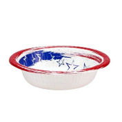Nicole Home Collection Stars N' Stripes Paper Bowl, 350ml