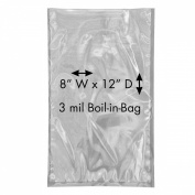 UltraSource 160812 Boil-in-Bags for Sous Vide Dishes or Convenience Foods, 20cm Wide x 30cm Length, Clear