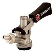 Kegco KTS97D-W - Stainless Steel D System Keg Tap - Black Lever Click Handle