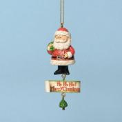 Jim Shore for Enesco Rudolph Traditions Santa Ho Ho Ho Ornament, 9cm