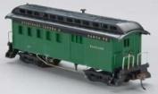 Model Power HO Scale 1890 Wood Passenger Combine, SF/Green