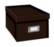 Pioneer Photo Albums BCD-1S CD/DVD Storage Box, Dark Brown