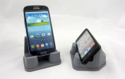 PhoneProp - Universal Fit Soft Flexible SmartPhone Stand - Durable FDA High Grade Silicone - colour grey