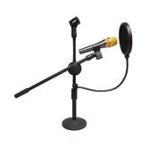 360° Flexible gooseneck holder/ Studio Microphone Mic Wind Screen Pop filter / Swivel Mount