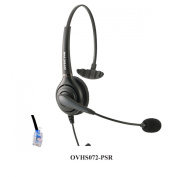 Call Centre Headset for Polycom SoundPoint IP Phones with RJ9 Headset Jack