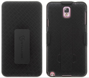 Stalion Secure [Lifetime Warranty] Shockproof Holster and Slim Hard Shell Case Combo with Kickstand and Locking Belt Swivel for Samsung Galaxy Note 3