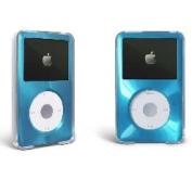MIP Apple iPod Classic Hard Case with Aluminium Plating 80gb 120gb 160gb-Light Blue