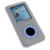 Bargaincell- Transparent Clear Silicon/Silicone Skin Cover Case For Sandisk Sansa e200, e250, e260, e270, e280, e200R, e250R, e260R, e270R, e280R Mp3 Player