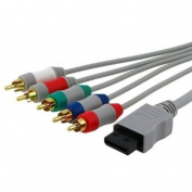 Fosmon Component HD AV Cable to HDTV/EDTV (High Definition 480p) for Nintendo Wii & Wii U