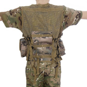 Kids Army All Terrain Camo Assault Vest - Fits Ages 5-13 Yrs