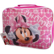 Girl's Pink Hearts Design Disney Minnie Mouse School Travel Lunch Bag