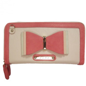 LYDC Bow Bow Clutch / Ladies Girls Classic Two Tone Large Double Compartment Faux Leather Purse / Wallet