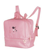 Girls Pink Dance Tap Ballet Jazz Swim Gym Shoe Bag Rucksack Katz Dancewear KB12