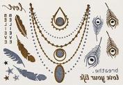 Wishing - Gold Silver Metallic Temporary Tattoo's