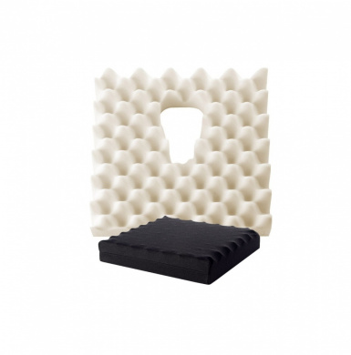 Prostate Ripple Foam Cushion Black