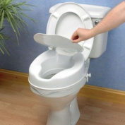 Savanah Raised Toilet Seat with Lid - 10cms