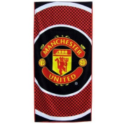 Manchester United F.C. Towel BE. large velour beach towel, approx 150cm x 75cm (59in x 29in), 100% cotton - official licenced football merchandise