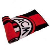 A.C.Milan Fleece Blanket - fleece blanket- 100% polyester- approx 127cm x 152cm- Official Football Merchandise