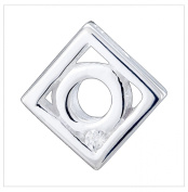 Silver Pendant, Cz, Square by UK Gems