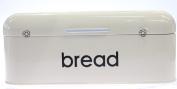 DNY© RETRO STYLE STEEL BREAD BIN KITCHEN FOOD STORAGE LOAF VINTAGE KITCHEN CREAM