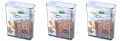 3 x Lock and & Lock Cereal & Pasta Container 4.3L HPL714F