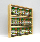 Solid Pine Spice Rack Holds Up To 30 Jars 3 Tiers