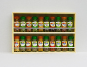 Solid Pine Spice Rack Holds Up To 20 Jars 2 Tiers