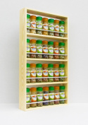 Spice Rack Solid Pine 4 Tiers Holds Up To 28 Schwartz Spice & Herb Jars