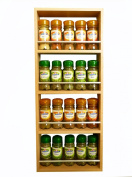 Solid Beech Spice Rack 4 Tiers Holds up to 20 Jars