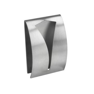 Metaltex 5 X 8 Cm Brushed Stainless Steel Self Adhesive