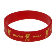 Liverpool F.C. Silicone Wristband- silicone rubber wristband- one size fits all- approx 7cm in diameter- on a header card- Official Football Merchandise