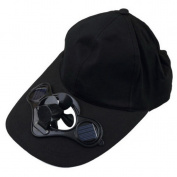 Buyin-now-UK Summer Sport Outdoor Hat Cap with Solar Sun Power Cool Fan For Cycling Black