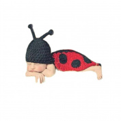 Zehui Baby Toddler Kids Costume Knit Crochet Beanie Flowers Animal Hat Cap Photo Prop F-Ladybug